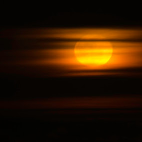Moonrise over Oklahoma by Beckie Caughman - Landscapes Starscapes ( moon, sky, nature, astronomy )