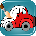 coches para colorear juego icon