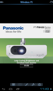 Panasonic Wireless Projector- screenshot thumbnail