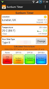 Sunburn Timer - screenshot thumbnail