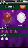 Screenshot of Cricket Scorer