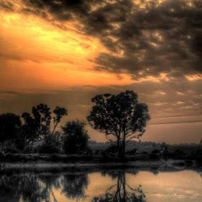 An Evening in Beroh Village by Surajit Rudra - Landscapes Sunsets & Sunrises ( soumya roychoudhury, sibasish sengupta, prabal basu, sabyasachi sensharma )