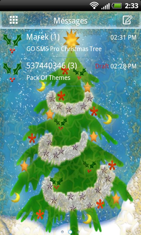 GO SMS Pro Christmas Tree v2 - screenshot