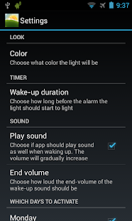 Wake-up Light- screenshot thumbnail