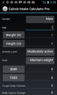 Calorie Intake Calculator - screenshot thumbnail