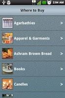 Screenshot of Ashram Information Guide
