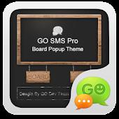 GO SMS Pro BlackBoard PopupThe