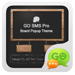 GO短信黑板即显主题 通訊 LOGO-阿達玩APP