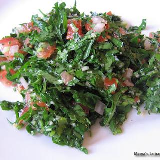 Authentic Lebanese Tabbouleh Salad.