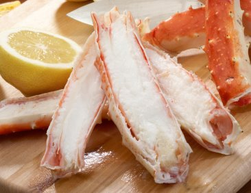 King crab meat is low in WW points. They have so much flavor, I don't think they need butter!