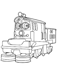 Thomas And Train Coloring