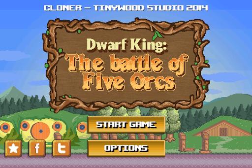 Dwarf King - Five Orcs Battle