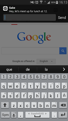 Heads Up SMS Notifications - screenshot