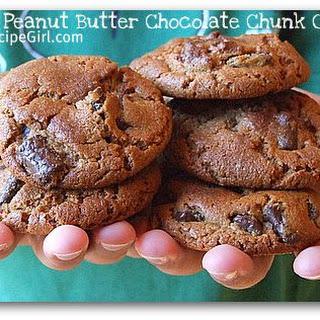 Honey- Peanut Butter Chocolate Chunk Cookies