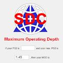 Scuba Maximum Depth logo
