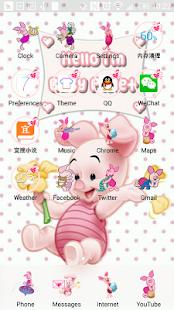 Baby Piglet launcher theme