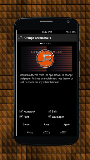 Orange Chrometalix-Icon Pack
