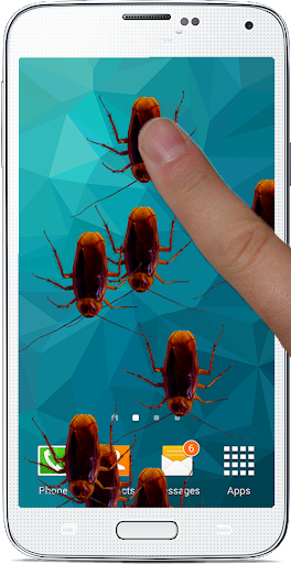 Bug Prank on Phone Screen