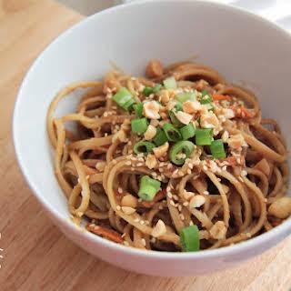 Sesame Noodles with Peanut Sauce.