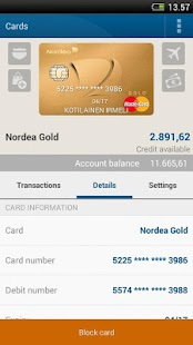 Nordea Mobile Bank – Finland - screenshot thumbnail