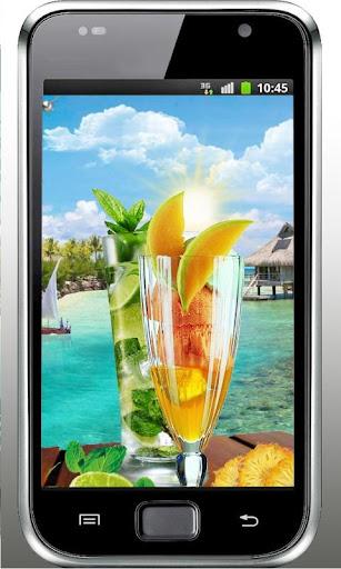 Beach Cocktails live wallpaper