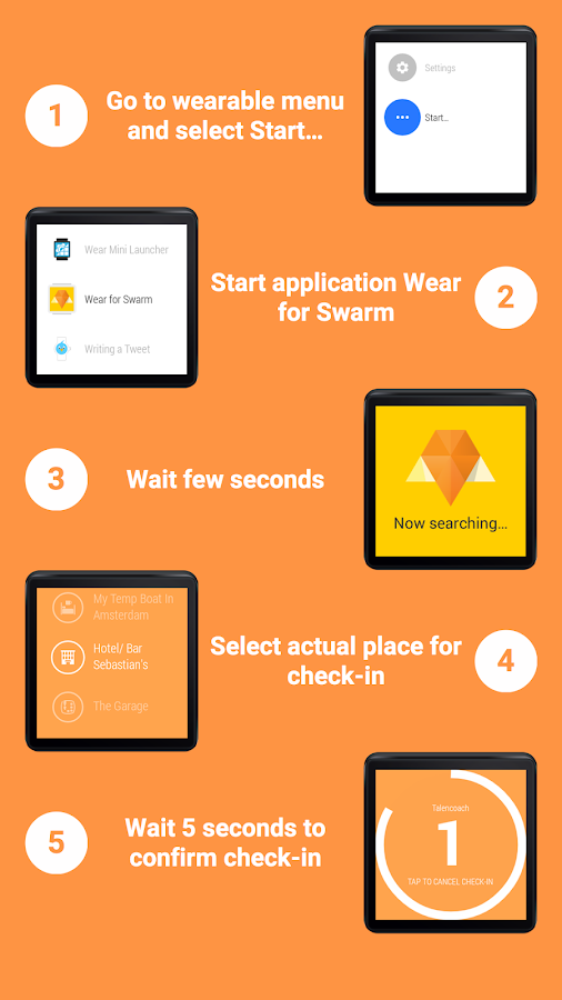 Wear for Swarm: captura de pantalla