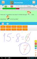 Screenshot of First Grade Math Free