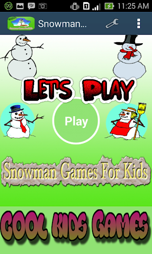 Snowman Games For Kids