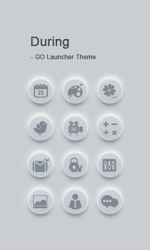 During GO Launcher Theme