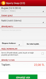 Yemeksepeti- screenshot thumbnail
