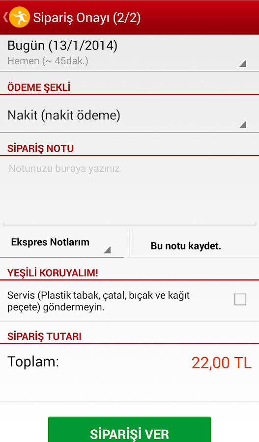 Yemeksepeti - screenshot