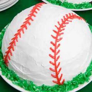 Baseball Ice Cream Cake.