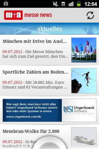 m+a messe news + messe termine- screenshot