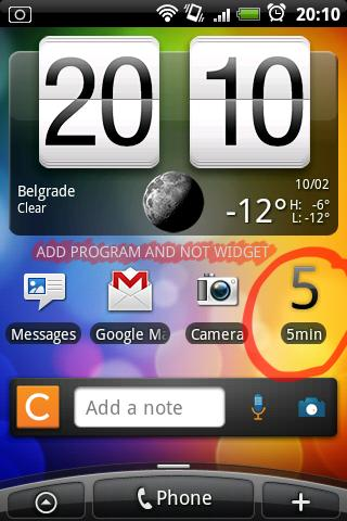 5min (Reminder)- screenshot