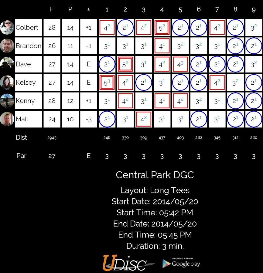 UDisc Disc Golf App - screenshot