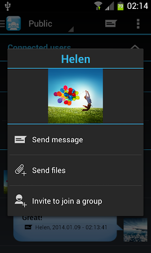 wifi chat applicationin android