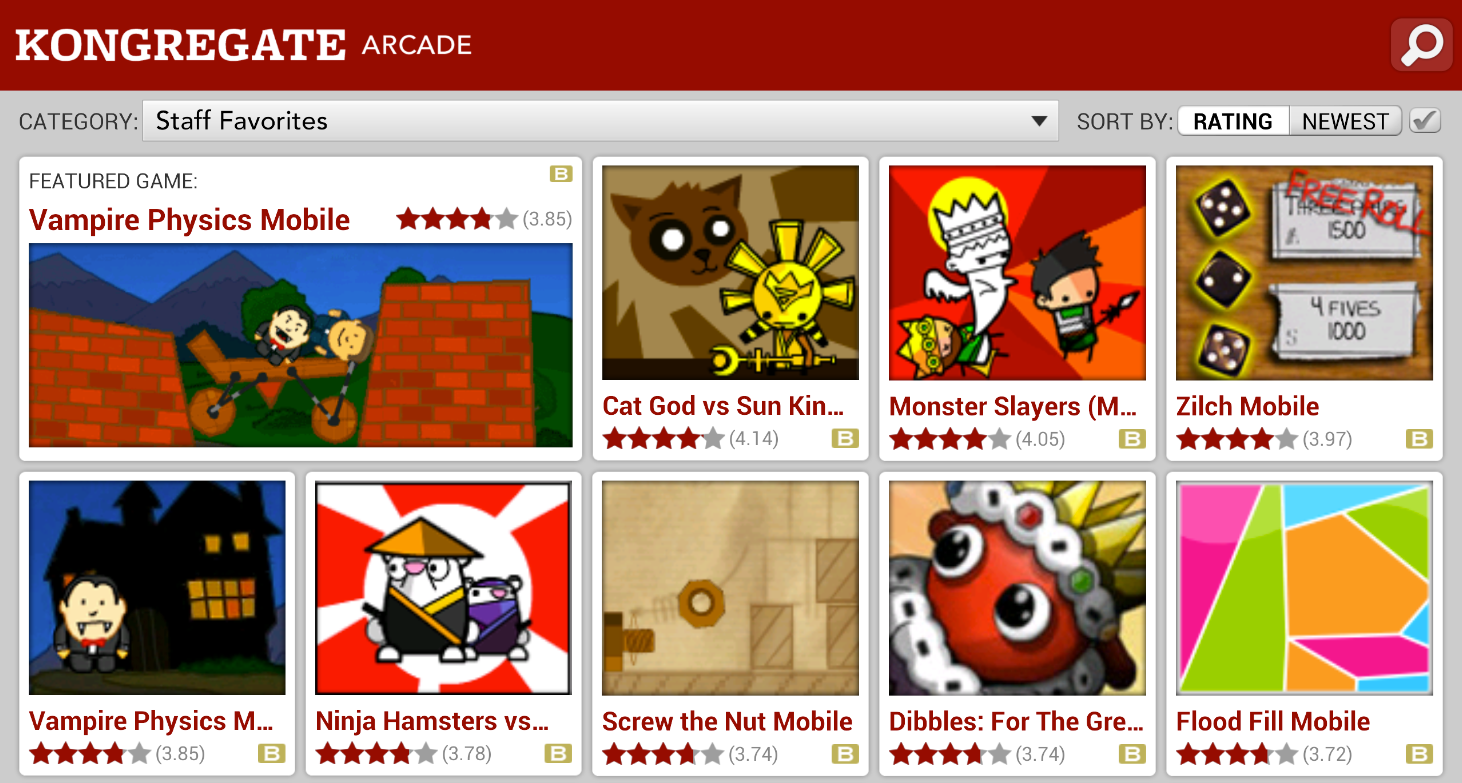 Kongregate Arcade- screenshot
