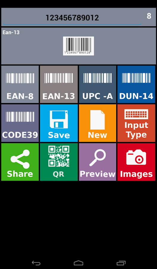 Barcode Creator Trial- screenshot