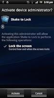 Screenshot of Lock Phone with Shake