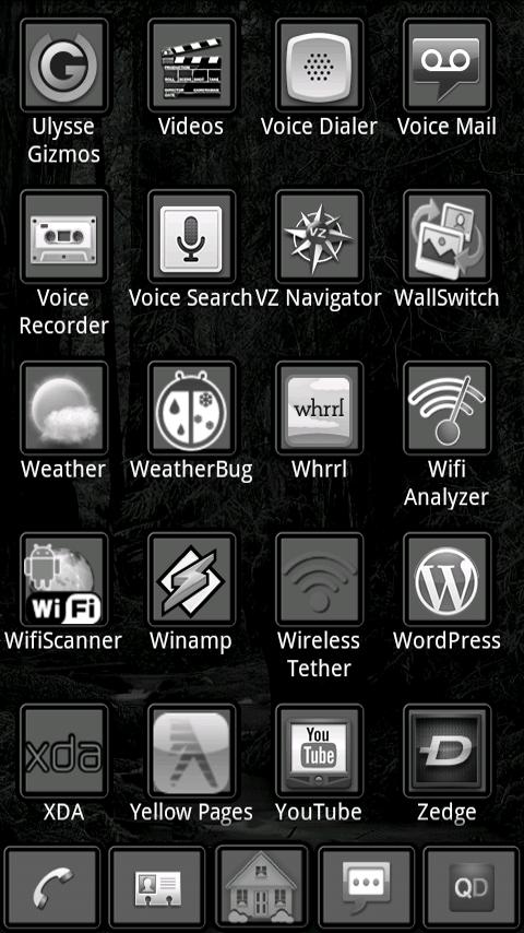 Dark Night ADW Theme - screenshot