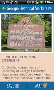 Georgia Historical Markers- screenshot thumbnail