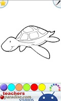 Screenshot of Reptiles Kids Coloring Game