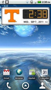Tennessee Vols Clock Widget- screenshot thumbnail