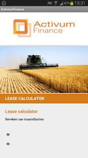 Equipment lease calculator - screenshot thumbnail
