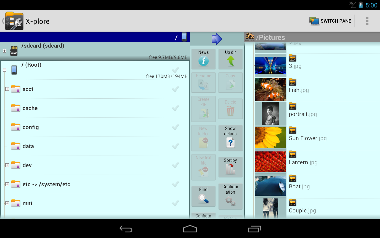 X-plore File Manager – Capture d'écran