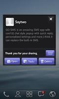 Screenshot of GO SMS Pro IPhoneBlack ThemeEX