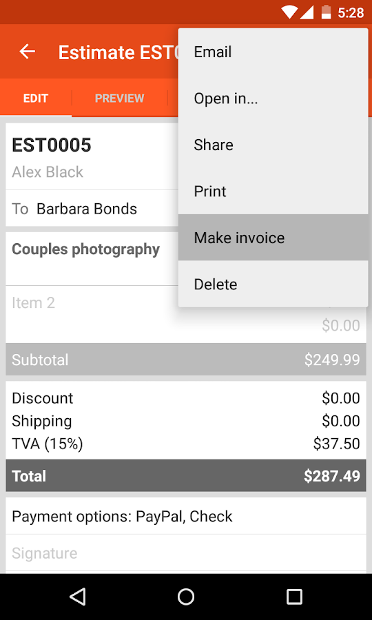 Invoice Maker - screenshot
