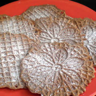 Chocolate Pizzelles.