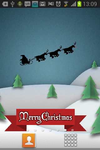 Xmas HOLIDAY LIVE WALLPAPER HD - screenshot