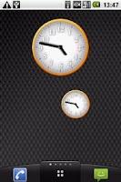 Screenshot of White - Orange Clock Widget